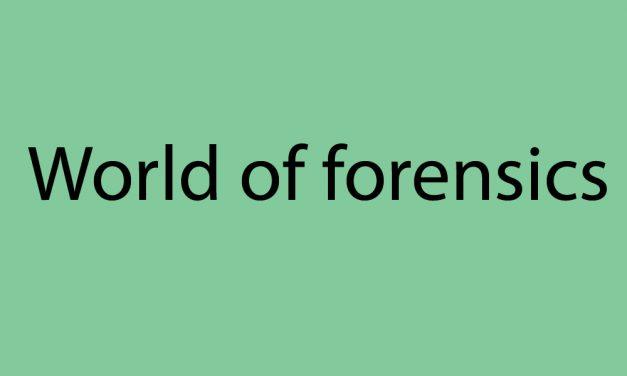 World of forensics