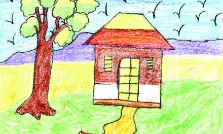 House near the tree