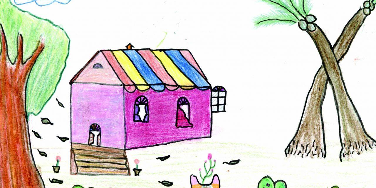 A colourful house