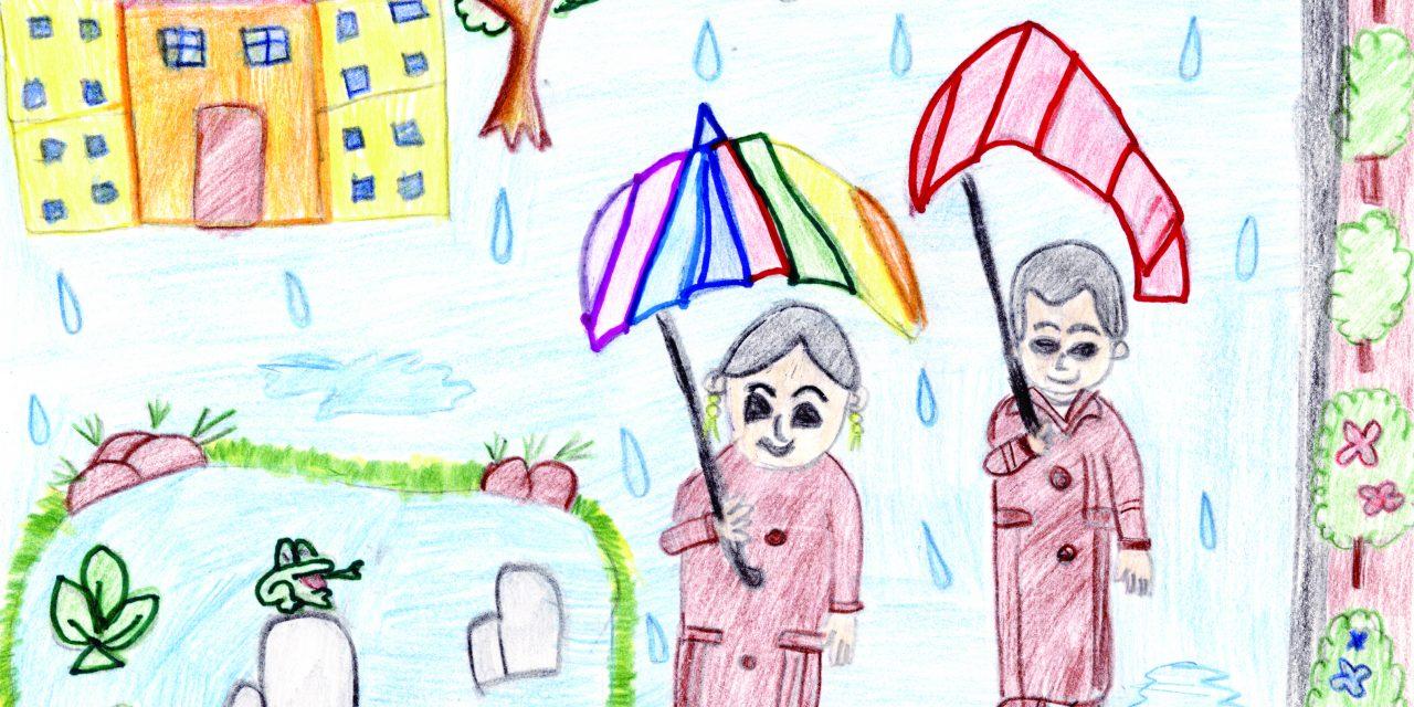 A monsoon scene