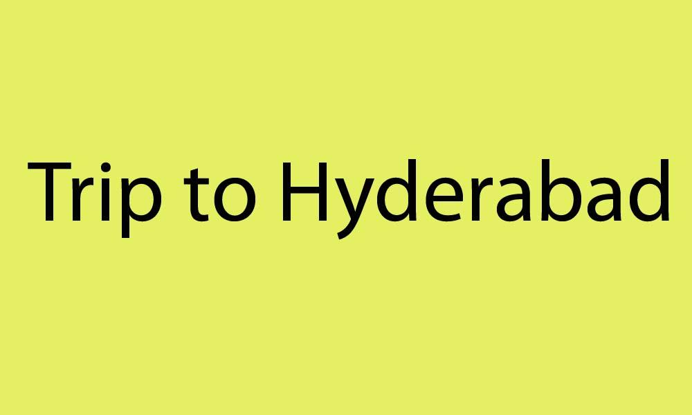 School trip to Hyderabad
